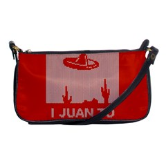 I Juan To Believe Ugly Holiday Christmas Red Background Shoulder Clutch Bags