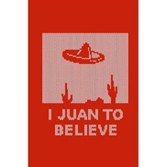 I Juan To Believe Ugly Holiday Christmas Red Background 5.5  x 8.5  Notebooks