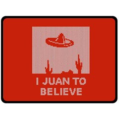 I Juan To Believe Ugly Holiday Christmas Red Background Fleece Blanket (Large)