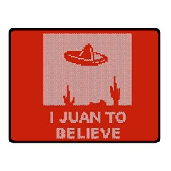 I Juan To Believe Ugly Holiday Christmas Red Background Fleece Blanket (Small)