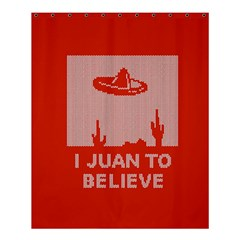 I Juan To Believe Ugly Holiday Christmas Red Background Shower Curtain 60  x 72  (Medium)