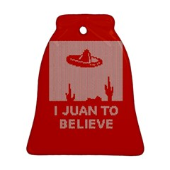 I Juan To Believe Ugly Holiday Christmas Red Background Bell Ornament (2 Sides)