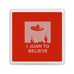 I Juan To Believe Ugly Holiday Christmas Red Background Memory Card Reader (Square)