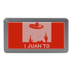 I Juan To Believe Ugly Holiday Christmas Red Background Memory Card Reader (Mini)