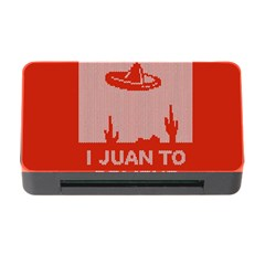 I Juan To Believe Ugly Holiday Christmas Red Background Memory Card Reader with CF