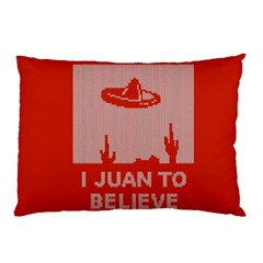 I Juan To Believe Ugly Holiday Christmas Red Background Pillow Case (Two Sides)