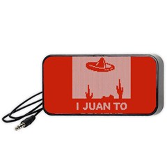 I Juan To Believe Ugly Holiday Christmas Red Background Portable Speaker (Black)