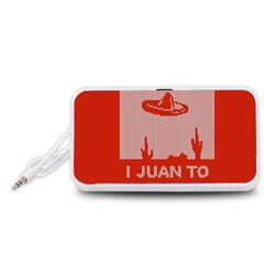 I Juan To Believe Ugly Holiday Christmas Red Background Portable Speaker (White)