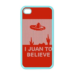 I Juan To Believe Ugly Holiday Christmas Red Background Apple iPhone 4 Case (Color)