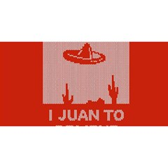I Juan To Believe Ugly Holiday Christmas Red Background YOU ARE INVITED 3D Greeting Card (8x4)