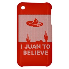 I Juan To Believe Ugly Holiday Christmas Red Background Apple iPhone 3G/3GS Hardshell Case