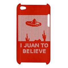 I Juan To Believe Ugly Holiday Christmas Red Background Apple iPod Touch 4