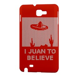 I Juan To Believe Ugly Holiday Christmas Red Background Samsung Galaxy Note 1 Hardshell Case