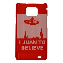 I Juan To Believe Ugly Holiday Christmas Red Background Samsung Galaxy S2 i9100 Hardshell Case