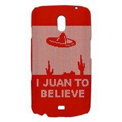 I Juan To Believe Ugly Holiday Christmas Red Background Samsung Galaxy Nexus i9250 Hardshell Case