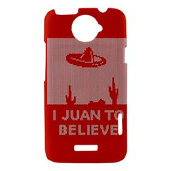 I Juan To Believe Ugly Holiday Christmas Red Background HTC One X Hardshell Case
