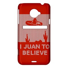 I Juan To Believe Ugly Holiday Christmas Red Background HTC Evo 4G LTE Hardshell Case