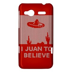 I Juan To Believe Ugly Holiday Christmas Red Background HTC Radar Hardshell Case