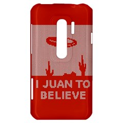 I Juan To Believe Ugly Holiday Christmas Red Background HTC Evo 3D Hardshell Case