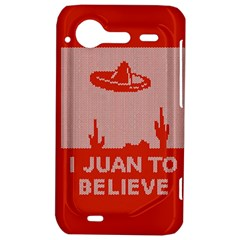 I Juan To Believe Ugly Holiday Christmas Red Background HTC Incredible S Hardshell Case