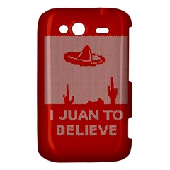 I Juan To Believe Ugly Holiday Christmas Red Background HTC Wildfire S A510e Hardshell Case