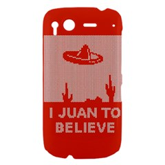 I Juan To Believe Ugly Holiday Christmas Red Background HTC Desire S Hardshell Case