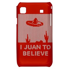 I Juan To Believe Ugly Holiday Christmas Red Background Samsung Galaxy S i9000 Hardshell Case