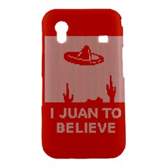 I Juan To Believe Ugly Holiday Christmas Red Background Samsung Galaxy Ace S5830 Hardshell Case