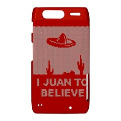 I Juan To Believe Ugly Holiday Christmas Red Background Motorola Droid Razr XT912
