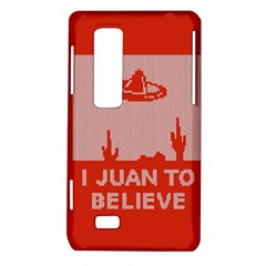 I Juan To Believe Ugly Holiday Christmas Red Background LG Optimus Thrill 4G P925