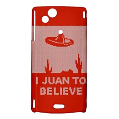 I Juan To Believe Ugly Holiday Christmas Red Background Sony Xperia Arc
