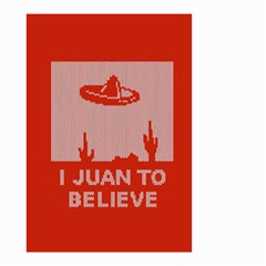 I Juan To Believe Ugly Holiday Christmas Red Background Small Garden Flag (Two Sides)