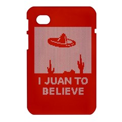 I Juan To Believe Ugly Holiday Christmas Red Background Samsung Galaxy Tab 7  P1000 Hardshell Case