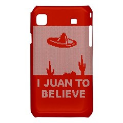 I Juan To Believe Ugly Holiday Christmas Red Background Samsung Galaxy S i9008 Hardshell Case
