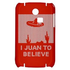 I Juan To Believe Ugly Holiday Christmas Red Background Samsung S3350 Hardshell Case