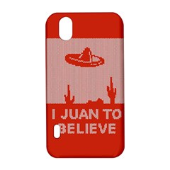 I Juan To Believe Ugly Holiday Christmas Red Background LG Optimus P970