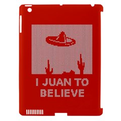 I Juan To Believe Ugly Holiday Christmas Red Background Apple iPad 3/4 Hardshell Case (Compatible with Smart Cover)