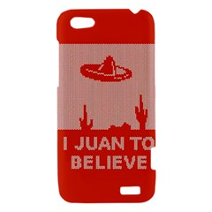 I Juan To Believe Ugly Holiday Christmas Red Background HTC One V Hardshell Case