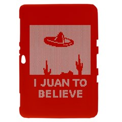 I Juan To Believe Ugly Holiday Christmas Red Background Samsung Galaxy Tab 8.9  P7300 Hardshell Case