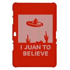 I Juan To Believe Ugly Holiday Christmas Red Background Samsung Galaxy Tab 10.1  P7500 Hardshell Case