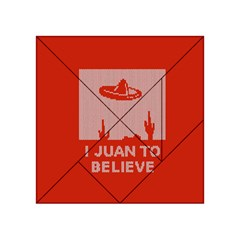 I Juan To Believe Ugly Holiday Christmas Red Background Acrylic Tangram Puzzle (4  x 4 )
