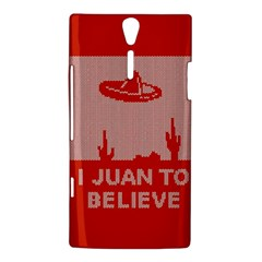 I Juan To Believe Ugly Holiday Christmas Red Background Sony Xperia S