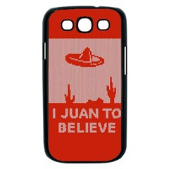 I Juan To Believe Ugly Holiday Christmas Red Background Samsung Galaxy S III Case (Black)
