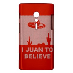 I Juan To Believe Ugly Holiday Christmas Red Background Sony Xperia ion