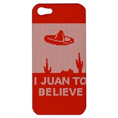 I Juan To Believe Ugly Holiday Christmas Red Background Apple iPhone 5 Hardshell Case