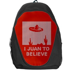 I Juan To Believe Ugly Holiday Christmas Red Background Backpack Bag