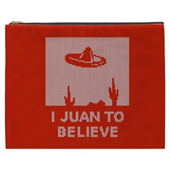 I Juan To Believe Ugly Holiday Christmas Red Background Cosmetic Bag (XXXL)