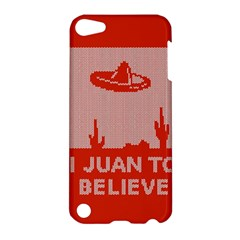 I Juan To Believe Ugly Holiday Christmas Red Background Apple iPod Touch 5 Hardshell Case