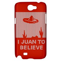 I Juan To Believe Ugly Holiday Christmas Red Background Samsung Galaxy Note 2 Hardshell Case