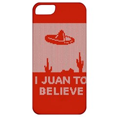 I Juan To Believe Ugly Holiday Christmas Red Background Apple iPhone 5 Classic Hardshell Case